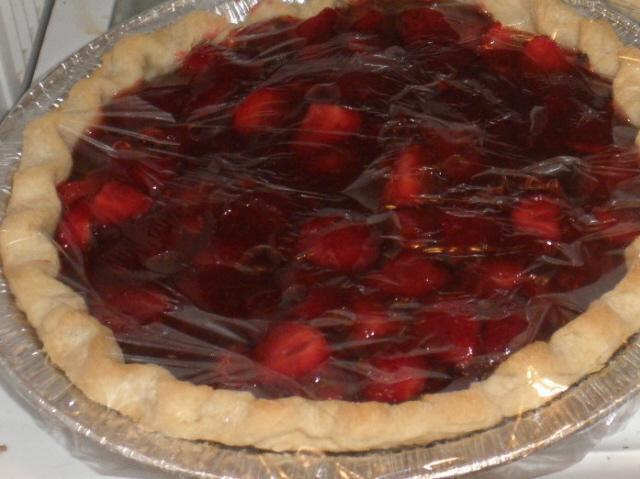 Chocolate Strawberry Pie.