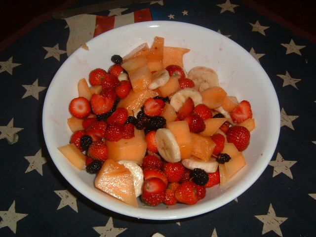 Put your own U Pick Strawberries in this lovely fresh fruit salad!